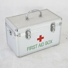 Compartment First Aid Medical Box Tray Portable Large Medicine Chest Lock Medic