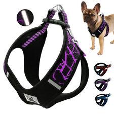 Step In Dog Harness Reflective Comfort Padded Adjustable Walking Vest Nylon SML