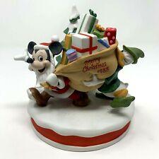 Disney Christmas 1985 Porcelain Santas Helper Mickey Donald Collectible Figurine