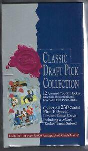 1991 CLASSIC 4 SPORT DRAFT PICKS FACTORY SEALED BOX
