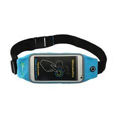 "RockBros Cycling Bike Sports Running Bag Phone Holder Waist Bag 5.8"" Blue New"