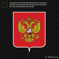 Russian Coat of Arms Sticker Decal Self Adhesive Vinyl Russia flag RUS RU