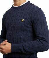 LYLE & SCOTT MEN'S LONG SLEEVE CABLE KNIT JUMPER