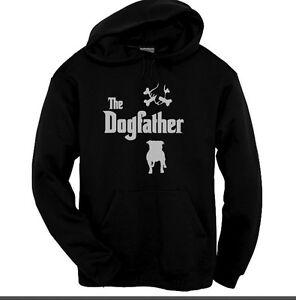 Staffordshire Bull Terrier Dogfather Hoody Staffy Black Hoodie sizes Kids to XXL