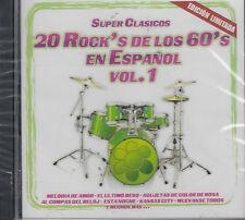 Super Clasicos 20 Rocks De Los 60 En Español Vol 1 New Nuevo Sealed