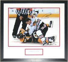 ANDREW SHAW AUTOGRAPHED STANLEY CUP FIGHT 16X20 PHOTO BECKETT BAS COA FRAMED