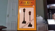 MTH RailKing #56 Green Street Lamp Set of 2, #30-1026, Diecast Metal,0-Scale-NIB