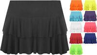 New Ladies Rara Mini Micro Flared Layered Frill Stretch Short Skirt Womens 8-14