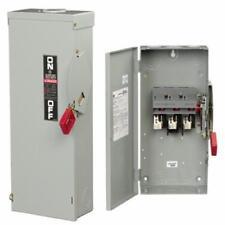 GE 60 Amp 600 Volt 3 Pole Non-Fused Nema 5/12 Disconnect Cat # THN3362J Model 10