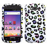 For T-Mobile Samsung Galaxy S BLAZE 4G Hard Case Cover White Rainbow Leopard