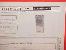 1969 LAFAYETTE CB RADIO SERVICE SHOP MANUAL MODEL DYNA-COM 6 (99-3150L)