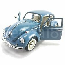 Welly 1:24 Die-Cast Volkswagen Beetle (Hard-Top) Car Blue Color Model Collection