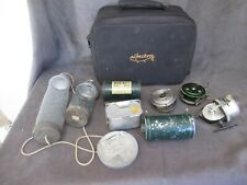 Vintage Fishing Reel Shakespeare Martin Browning - Bait Boxes ALBACKORE Bag dl