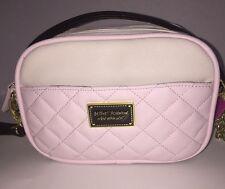BETSEY JOHNSON Pink & White Crossbody Camera Bag *NEW* ~FREE SHIPPING US~