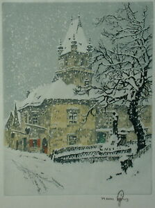 FIGURA Hans (1898-1978) Perchtolsdorf im Schnee.
