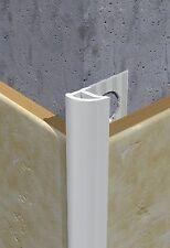8mm PVC Piastrelle Bianche taglia (conf. da 10) 2.5m di lunghezza (25m in totale)