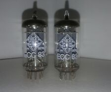 ECC 83 TELEFUNKEN- long ribbed plate- same code -pair 2Stck.<DIAMOND>