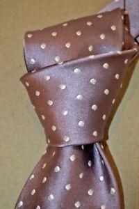 """$250NWT TOM FORD Mauve w/white Polka dots men's luxury 3.4"""" satin SILK tie Italy"""