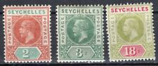SEYCHELLES 1912 STAMP Sc. # 63/4 AND 68 MH