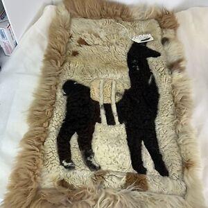 Vintage Peruvian/Alpaca Fur Rug/Tapestry/Hide Wall Hanging-Hand Made/34'X20'