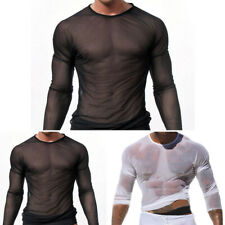 Transparent T-Shirt Maille Respirant Hommes Homme M ~ XL Tulle Homme Tshirt