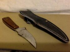 """Vintage Knife. Hunting Knife WIth Sheath. 4"""" Blade. Made in Pakistan."""