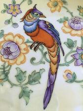 "Art Deco Parrot Lusterware Plate Plaque, Leh Scherzer Bavaria, 12"", STUNNING!!"