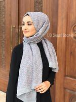 Muslim Hijab, Scarf, Viscose Hijab, Turkish Hijab, Small Flower Designed Shawl