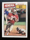 JERRY RICE, AP, San Francisco 49ers, EX-MT, 1987 Topps Football, #115, HOF