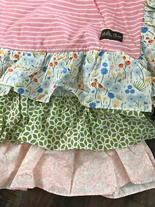 Matilda Jane Adventure Begins Rows of Ruffles Twin Bedskirt NIP