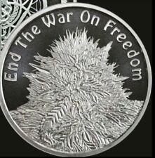 1 oz silver cannabis. end the war on freedom! BU .999 pure silver shield PRESALE