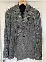 Reiss Mens Hounds Tooth Double Breasted Balzer Uk 36 RRP £295