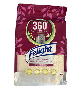 Felight 360° Care - Clean Clumping - Plant Based Cat Litter  - 4 Litre