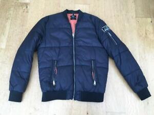 BERSHKA  Quilted Bomber Style Jacket UK  MEDIUM