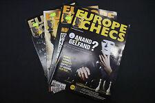 CHESS MAGAZINES Lot of 4 EUROPE ECHECS magazines Janvier - Avril 2012 Francais