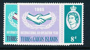TURKS & CAICOS ISLANDS 1965 INTERNATIONAL CO-OPERATION YEAR SG260/261  MNH