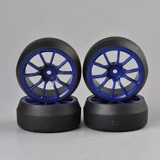 4X 0Degree Drift Tires Wheel Rim For HSP 1:10 RC On-Road Car 3mm Offset C12B+D2