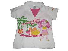 C & A tolles T-Shirt Gr. 116 weiß mit niedlichem Motiv und Polokragen !