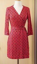 Diane Von Furstenberg New Julian Two Mini Wrap Silk Dress Size 6 Floral Pink