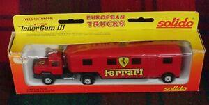"SOLIDO ""Toner Gam"" #3504 Iveco ""Ferrari"" F1 race motor home (MIB) Made in France"
