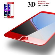 Red 3D Tempered Glass  Edge Curved Full Cover Screen Protector For iPhone 7 Plus
