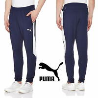 PUMA FIGC ITALY Stadium Pants Men's Tapered Track Bottoms Navy Trousers RRP £34