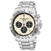 Stuhrling 891 05 Formulai Quartz Chronograph Stainless Steel Date Mens Watch