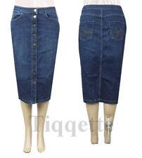 M&S Ladies Indigo Denim Pencil Skirt Size 8 - 22