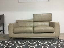 Demir Italian leather two seater lounge sofa