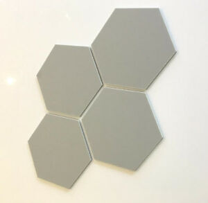 Hexagonal Acrylic Wall Tiles - Light Grey