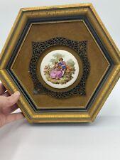 Ea Riba Co Brooklyn Ny Style 95 Framed Enamel Picture Fragonard