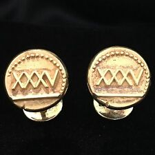 Vintage Van Cleef and Arpels 18k Y/ Gold Roman Numerals Cufflinks Signed 28.8g