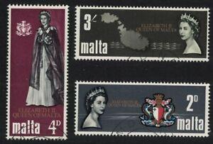 Malta Royal Visit 3v 1967 CTO SG#396-398