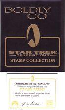 """STAR TREK """"BOLDLY GO"""" NEXT GENERATION STAMP PORTFOLIO: GUYANA #2904-6. SCV $48"""